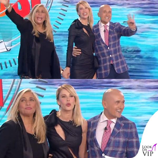 Alessia Marcuzzi Isola dei Famosi prima puntata abito Versace 7