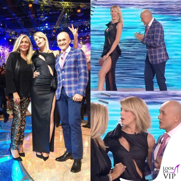 Alessia Marcuzzi Isola dei Famosi prima puntata abito Versace 8