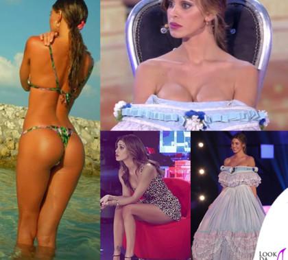 Belen Rodriguez Paquenos Gigantes quarta puntata tuta Moschino_