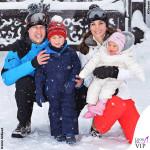 Outfit regali sulla neve per Kate & family