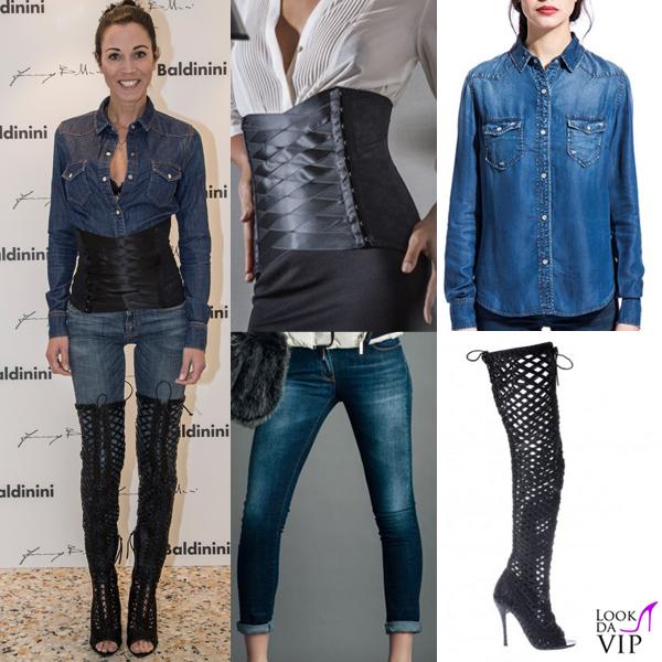 Federica Torti camicia Roy Rogers jeans Relish stivali Baldinini bustier Floriane Deluxe 2