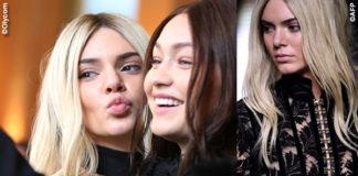 Kendall Jenner Gigi Hadid hair swap for Balmain_