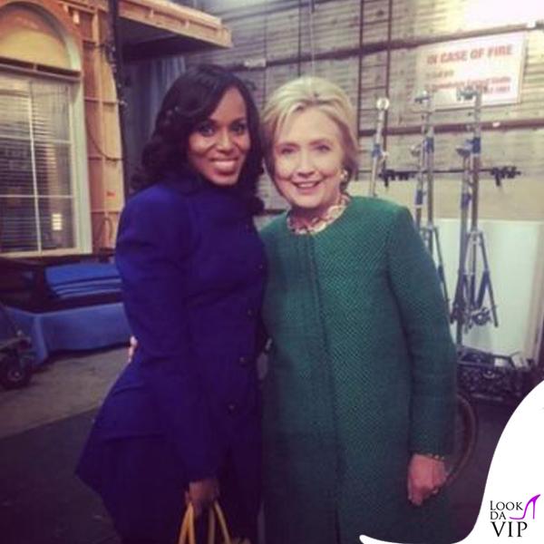 Kerry Washington e Hillary Clinton