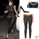 Kylie Jenner top Sally LaPointe pantaloni Vince decollete Gianvito Rossi borsa Miu Miu 2