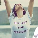 Liv Tyler tshirt Hillary for President 2