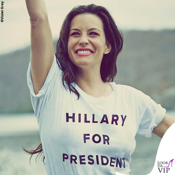 Liv Tyler tshirt Hillary for President