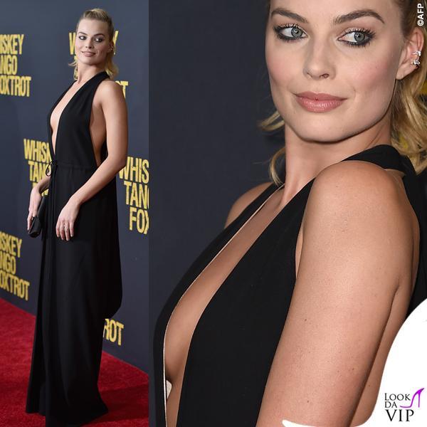Margot Robbie Whiskey Tango Foxtrot Premiere jumpsuit Valentino