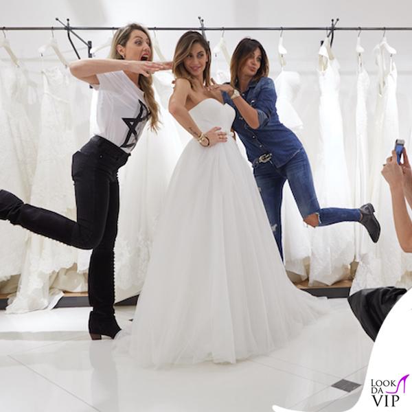 Melissa Satta abito da sposa Atelier Emé