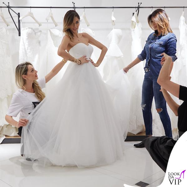 Melissa Satta abito da sposa Atelier Emé 2