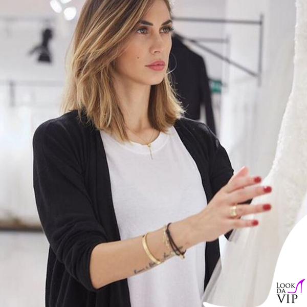 Melissa Satta abito da sposa Atelier Emé 3