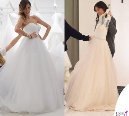 Melissa Satta e Flavia Pennetta abito da sposa Atelier Emé