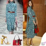 Miriam Leone abito borsa scarpe cintura Gucci 2