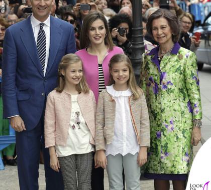 Reali di Spagna alla Messa di Pasqua