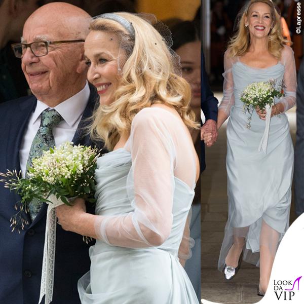 nozze Rupert Murdoch Jerry Hall abito Vivienne Westwood ballerine Roger Vivier 2