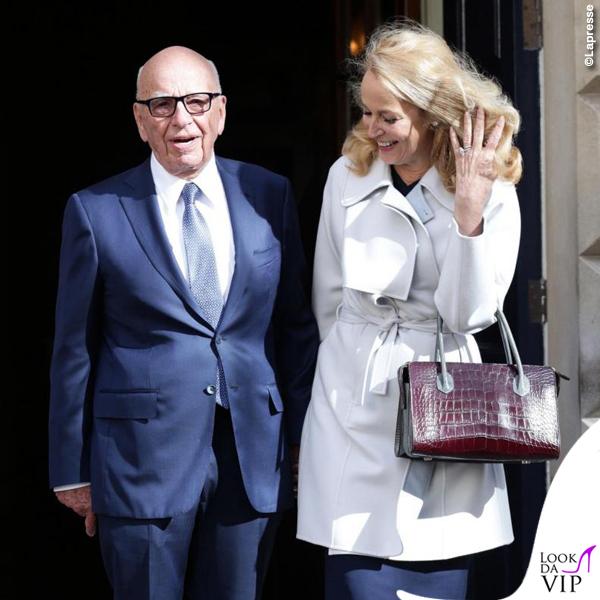 nozze civili Rupert Murdoch Jerry Hall ballerine Roger Vivier 3