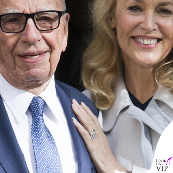 nozze civili Rupert Murdoch Jerry Hall ballerine Roger Vivier 6