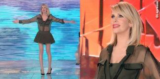 Alessia Marcuzzi sesta puntata Isola dei Famosi total Versace