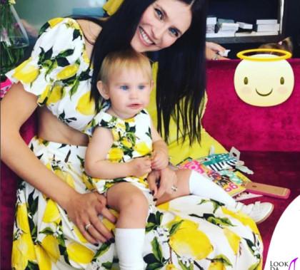 Bianca Balti e Mia McRae total Dolce&Gabbana