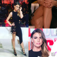 Claudia Galanti Isola dei Famosi abito Antony Vaccarello scarpe Louboutin
