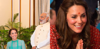 Kate Middleton India abito Temperley London abito Glamorous