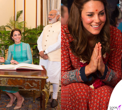 Kate Middleton India abito Temperley London abito Glamorous