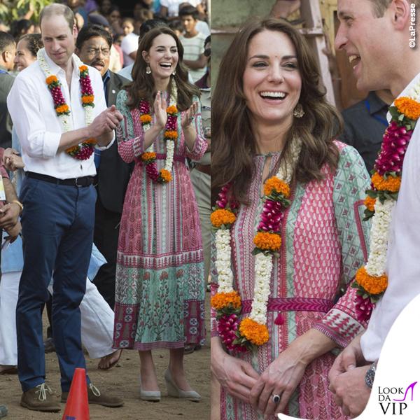 Kate Middleton India primo giorno abito Anita Dongre zeppe Monsoon orecchini Accessorize 2