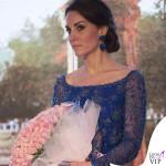Kate Middleton India primo giorno abito Jenny Packham sandali Prada orecchini Amrapali