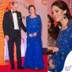Kate Middleton India primo giorno abito Jenny Packham sandali Prada orecchini Amrapali 2