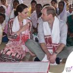 Kate Middleton India quarto giorno abito Topshop pump Pied a Terre orecchini Accessorize