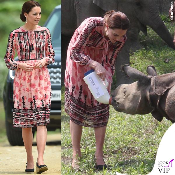 Kate Middleton India quarto giorno abito Topshop pump Pied a Terre orecchini Accessorize 2