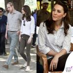 Kate Middleton India quarto giorno camicia RM Williams pantaloni Zara mocassino Sebago 2