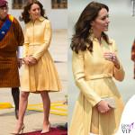 Kate Middleton India quinto giorno abito Emilia Wickstead pump clutch LK Bennett orecchini Brora 2