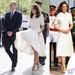 Kate Middleton India secondo giorno abito Emilia Wickstead pump Rupert Sanderson clutch Mulberry orecchini Cassandra Goad