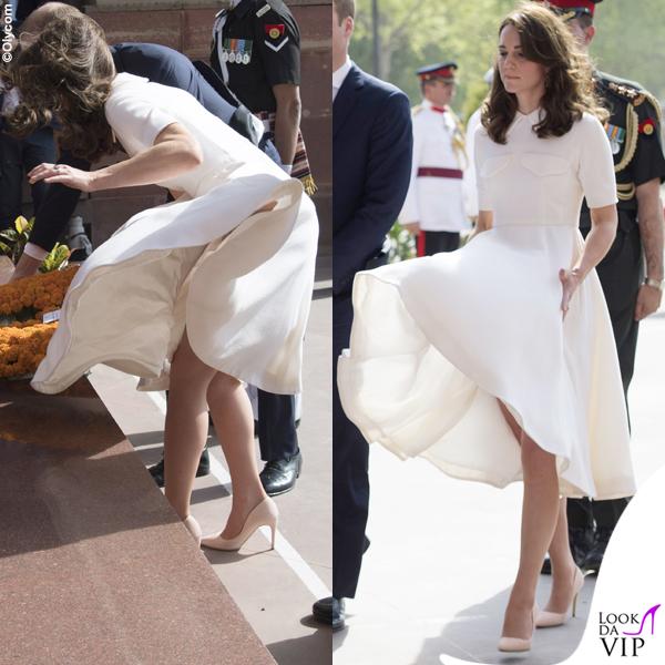 Kate Middleton India secondo giorno abito Emilia Wickstead pump Rupert Sanderson clutch Mulberry orecchini Cassandra Goad 2