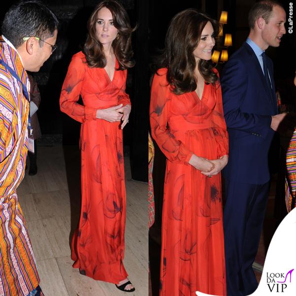 Kate Middleton India sesto giorno abito Belulah Juliet sandali Gianvito Rossi orecchini Cassandra Goad 2