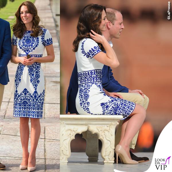 Kate Middleton India settimo giorno abito Naeem Khan pump LK Bennett 2