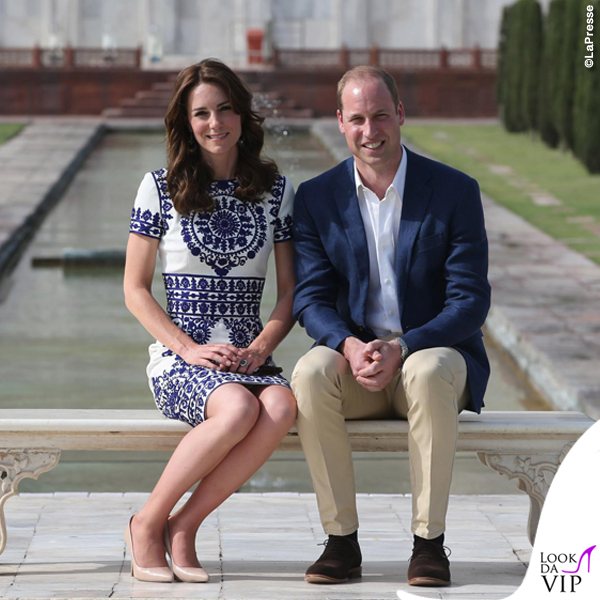 Kate Middleton India settimo giorno abito Naeem Khan pump LK Bennett