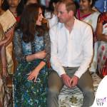 Kate Middleton India terzo giorno abito Anna Sui zeppe Pied a Terre