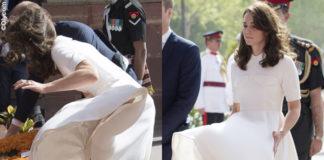 Kate Middleton abito Emilia Wickstead pump Rupert Sanderson clutch Mulberry orecchini Cassandra Goad