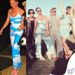 Katy Perry tuta Mara Hoffman ciabatte Its Omighty Bitch