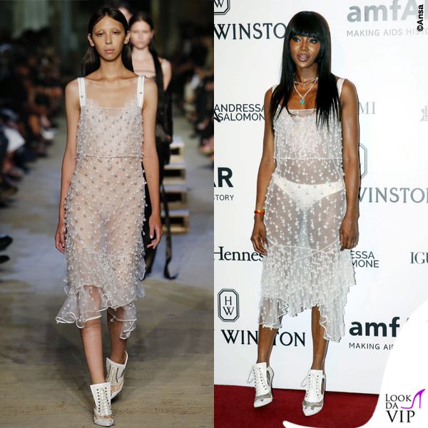 Naomi Campbell abito scarpe Givenchy 2