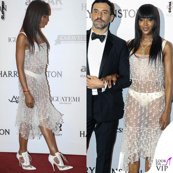 Naomi Campbell abito scarpe Givenchy