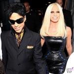 Prince 2011 con Donatella Versace