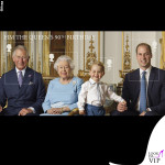 Principe Carlo, regina Elisabetta, principe George e duca William completo Rachel Riley 2