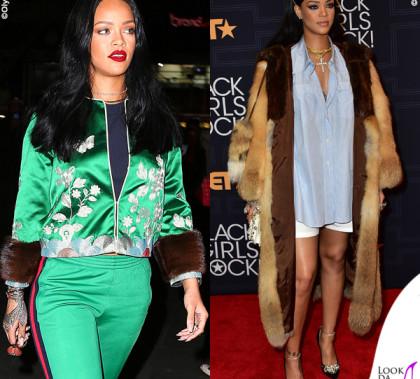 Rihanna Gucci e Miu Miu