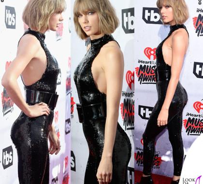 Taylor Swift iHeartRadio Music Awards tuta Saint Laurent boots Giuseppe Zanotti