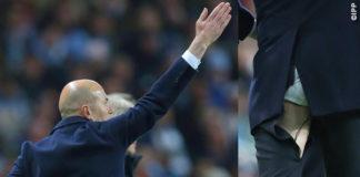 Zinedine Zidane pantaloni strappati Champions League Real Madrid - Manchester City