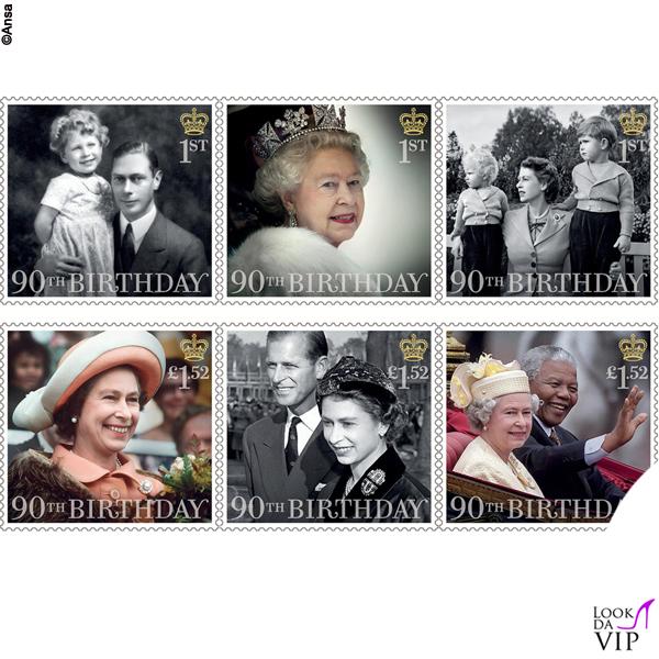 regina Elisabetta francobolli novantesimo compleanno 2
