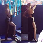 Alessia Marcuzzi backstage finale Isola dei Famosi abito Versace
