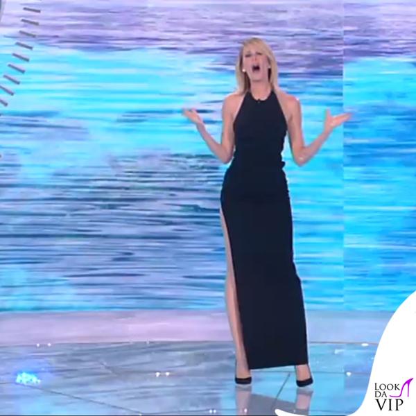 Alessia Marcuzzi finale Isola dei Famosi abito Versace 12